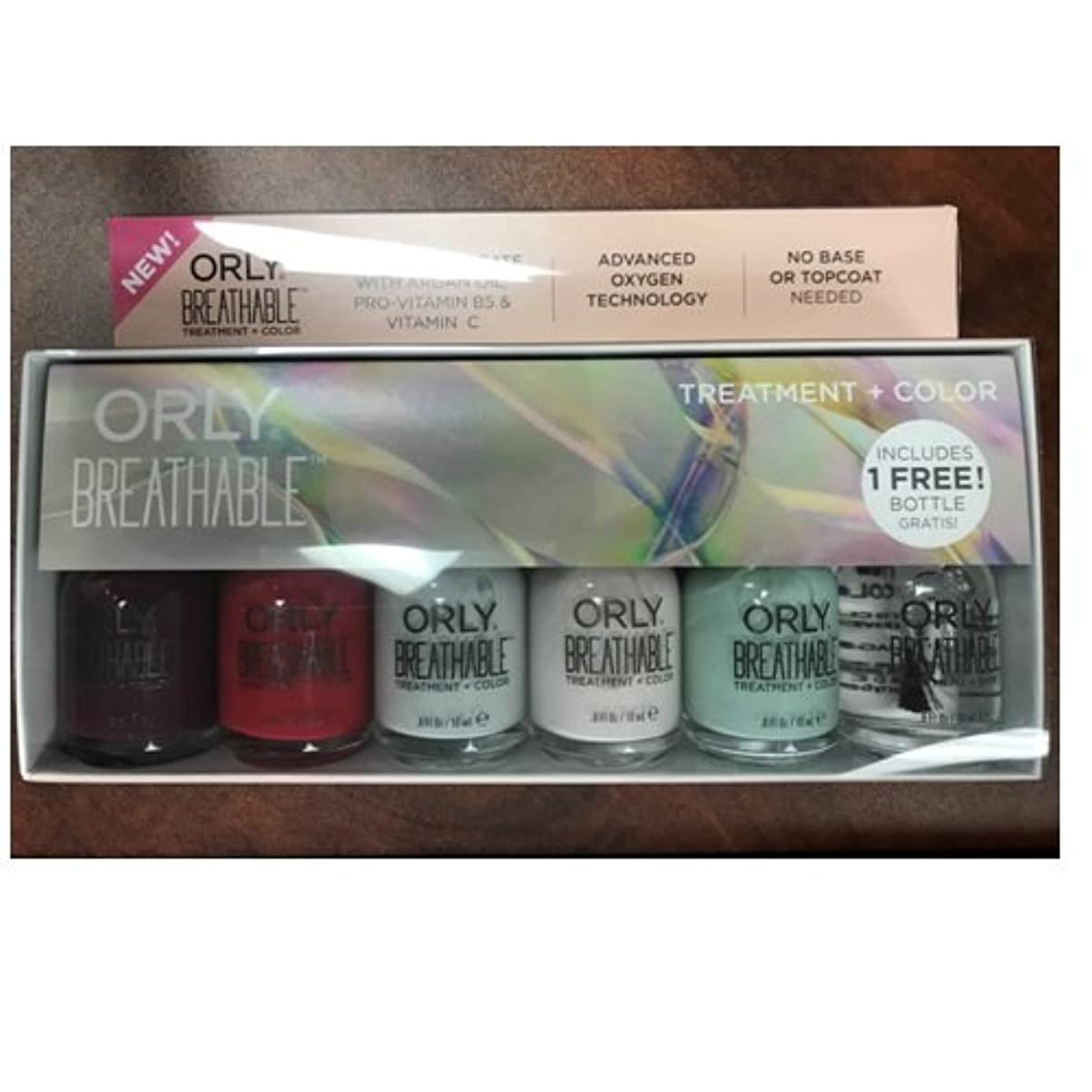 シリンダー原稿痛いOrly Breathable Nail Lacquer - Treatment + Color - 6 Piece Kit - 18ml / 0.6oz Each