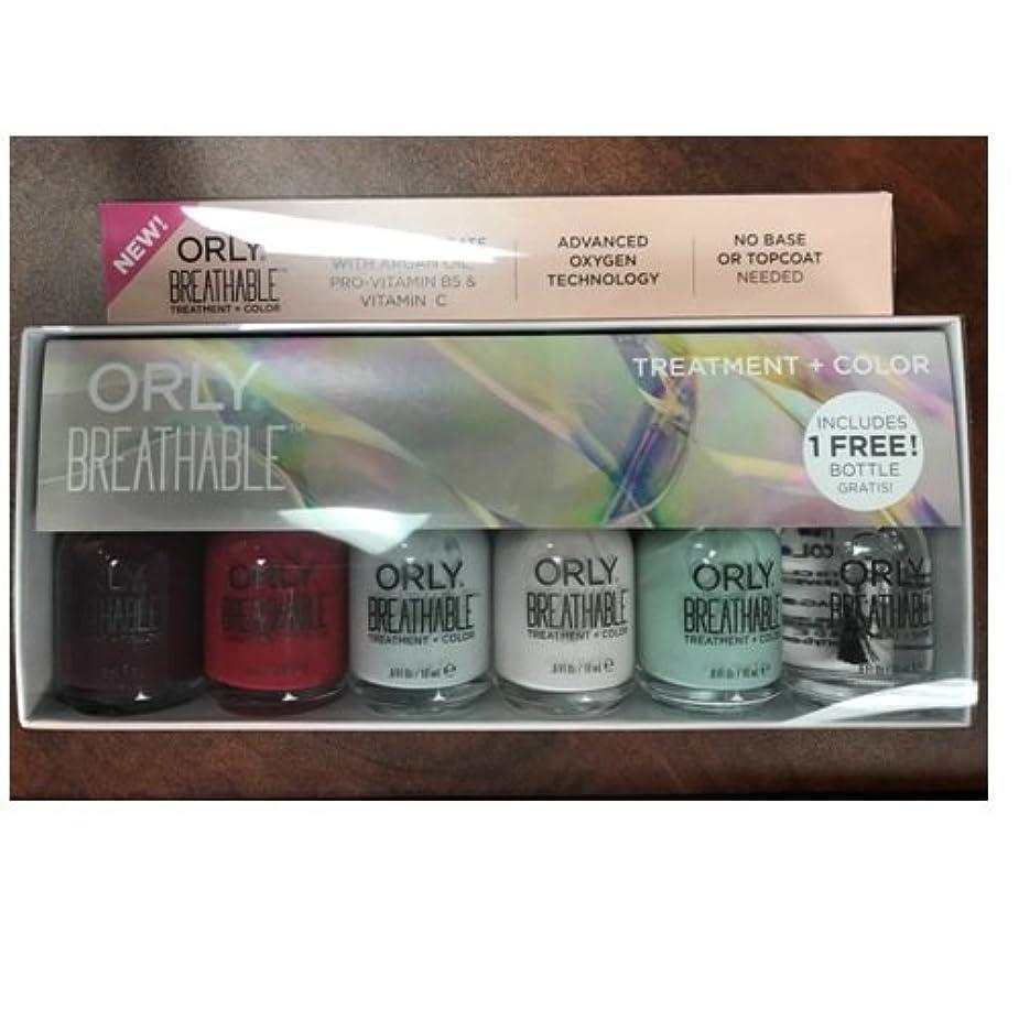 予備サーキットに行くはっきりとOrly Breathable Nail Lacquer - Treatment + Color - 6 Piece Kit - 18ml / 0.6oz Each