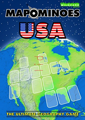 MAPOMINOES USA - The Ultimate Geography Game - Fun & educational travel card game about US states for kids teens and adults