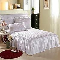 欧州 ファイバー ベッドスカート,フリルのついた バランス 洗浄綿 換気 ベッド,ほこりフリル 装着 毛布 女王の ダブル-C 120 * 200cm