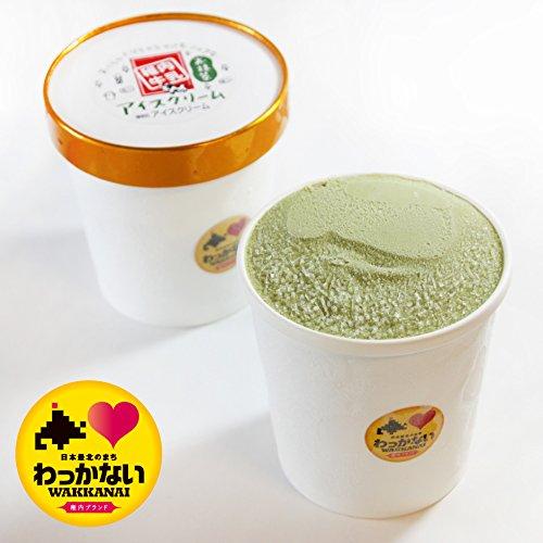 活彩 北海道 稚内牛乳 牧場 アイスクリーム お抹茶 大 カップ 470ml 稚内ブランド