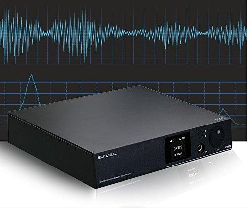 SMSL A8 大きなパワー出力と超低歪み高忠実度デコードデジタル パワーアンプ ヘットフォンアンプ (黒)