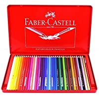 Faber-castell 36 Color Set Watercolor Pencils in Tin Case by Faber-castell [並行輸入品]