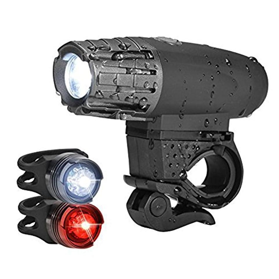境界売り手渦DMCE 自転車ライトセット Led,ヘッドライト テールライト セッ スーパー ブライト 点滅 1000 ルーメン Usb充電式 Ip65 防水 安全警告 すべてのバイクに適合します。 道のバイク