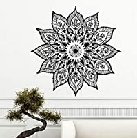 Ansyny マンダラウォールステッカー取り外し可能なマンダラボヘミアンパターン壁飾り家の装飾ヨガステッカー自由奔放に生きるアート壁壁画42 * 42センチ