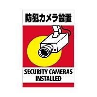 表示看板 「防犯カメラ設置」 反射加工なし 縦型 小サイズ 30cm×45cm