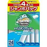 【まとめ買い】 スクラビングバブル トイレ洗剤 トイレスタンプクリーナー フレッシュソープの香り 付替用 ジャンボパック 38g×4本