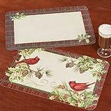Best CounterArtキッチンマット - CounterArt Cardinal Wreath Holidayプレースマットレッド4つのセット Set of 4 レッド Review