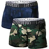 """Tesla Men's Relaxed Stretch 3""""/6""""/9"""" Open-Fly Cool Dry Brief Mesh Underwear Trunk (2-Pack) MBU"""