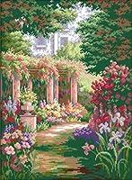 ししゅう糸 クロスステッチ刺繍キット 布地に図柄印刷 ロマン花園