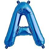 プレミアムレターバルーン ブルー 「A」 16インチ(約30cm)