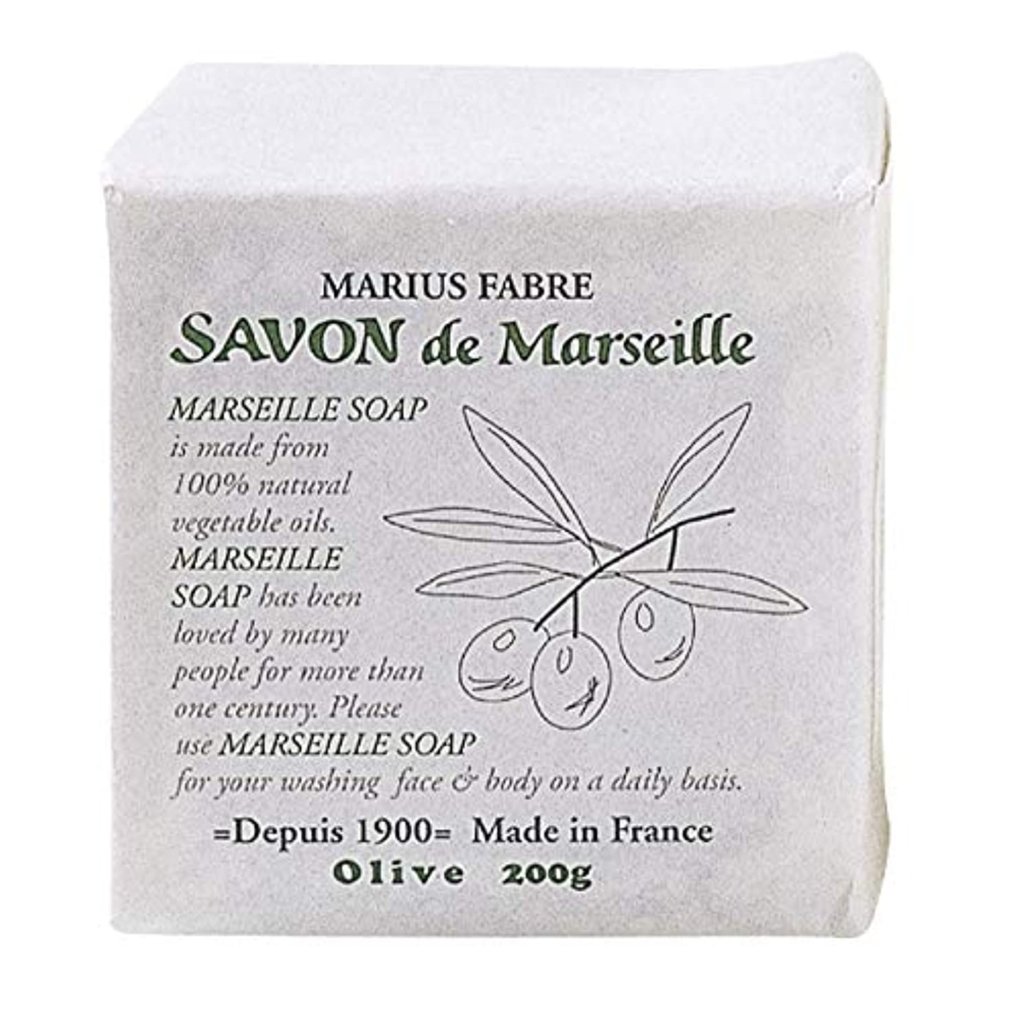 実質的プランター任命サボンドマルセイユ 無香料 オリーブ 200g