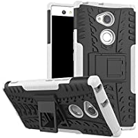 【JIN & WU】SONY Xperia XA2 Ultra ケース 耐衝撃 タフで頑丈 TPU+PC 2重構造カバー スタンド機能付きエクスペリア XA2 ウルトラ ケース (ホワイト)