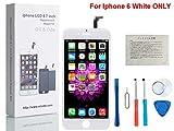 CWX iPhone 6 4.7インチ交換修理用フロントパネル(フロントガラスデジタイザ)タッチパネル 液晶パネルセット 修理工具付属 (白)