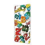 HUAWEI P9 lite (VNS-L22) ケース ハードケース [キャンディロゴ・白カラフル] ロリポップ ペイント ピーナインライト スマホケース 携帯カバー [FFANY] lolipopo-h143@01