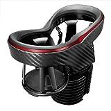 カーメイト 車用 ドリンクホルダー ツインカップホルダークワトロXカーボン調 メタリックレッド DZ413