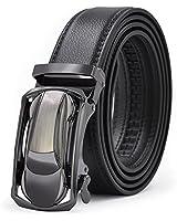[ロマネ・コンティ] ベルト メンズ 革 レザーベルト 高品質 ベルトメンズ ビジネス オートロック式 ベルト バックル 紳士ベルト 箱付き プレゼントに 大きいサイズ 125cm