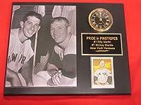 Billy Martin Mickey Mantle Yankeesコレクター時計プラークW / 8x 10写真とカード