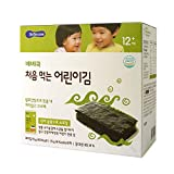 BeBecook Junior's First Sun-Dried Seaweed (Original), 1.5 Gram (Pack of 10)