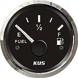KUS 燃料タンクレベルゲージ 燃料計 防水 ボート カー バイク 船舶用品 汎用 オイルタンクインジケーター フューエル燃料メーター 52mm 0-190omhs BLACK