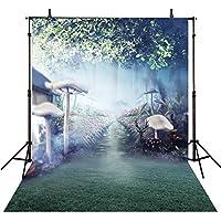 Romantic Wedding Backdrops for Photography 10feet-10feetマッシュルーム写真背景小道具ウェディング写真の背景幕
