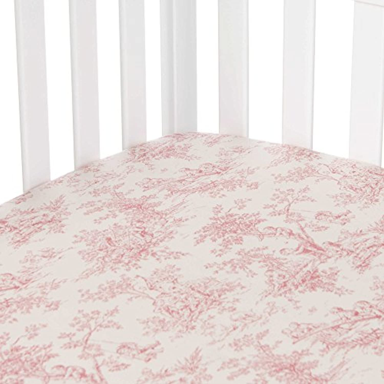 Glenna Jean Isabella Toile Fitted Crib Sheet by Glenna Jean
