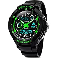 Kids Sports Digital Watch - Boys Analog Waterproof Sport Watches with AlarmLED Watch For Childrens