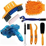 Diniiko Bike Clean Brush Kit, 9 Pieces Precision Bicycle Cleaning Brush Tool,Chain Cleaning Tools/Crank/Tire/Sprocket Corner Stain Dirt Clean Durable fit All Bike