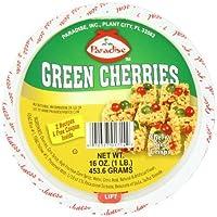 Paradise Cherries Whole Green 16 Ounce [並行輸入品]