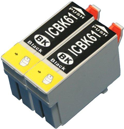 エプソン純正互換インク「ICBK61」2個セット ICチップ付き