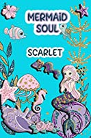 Mermaid Soul Scarlet: Wide Ruled | Composition Book | Diary | Lined Journal