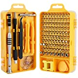 Screwdriver Set,110 in 1 Precision Screwdriver Repair Tool Kit,Fomatrade Magnetic Driver Kit Professional Repair Tool Kit for iPhone X, 8,7 Cellphone Computer Tablet PC Electronics Devices (Yellow)