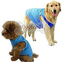 スタイリッシュなファッションペット子犬夏シャツ小型犬猫ペット服ストライプベストTシャツ:ブラック、M