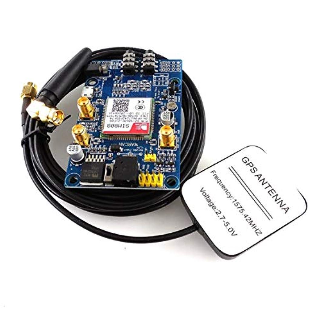 即席砂利オプショナルSIM808モジュールGSM GPRS GPS開発ボードIPX SMA、GPSラズベリーPi STM32 51MCU対応音声付き-ブルー