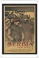 第一次世界大戦のティンサイン 金属看板 ポスター Tin Sign Metal Poster Plate plaque WW101-1386
