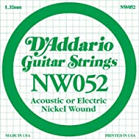 D'Addario NW052 Nickel Wound ギターバラ弦 [26597]