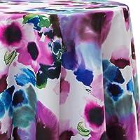 究極TextileライラックOval Printedテーブルクロス 52 x 70 Inch Oval PWG1-52X70-OV-063