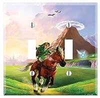 壁スイッチ/コンセントカバープレートオンDecor Wallplates–The Legend of Zelda : Ocarina of Time Midway C3-ZD01