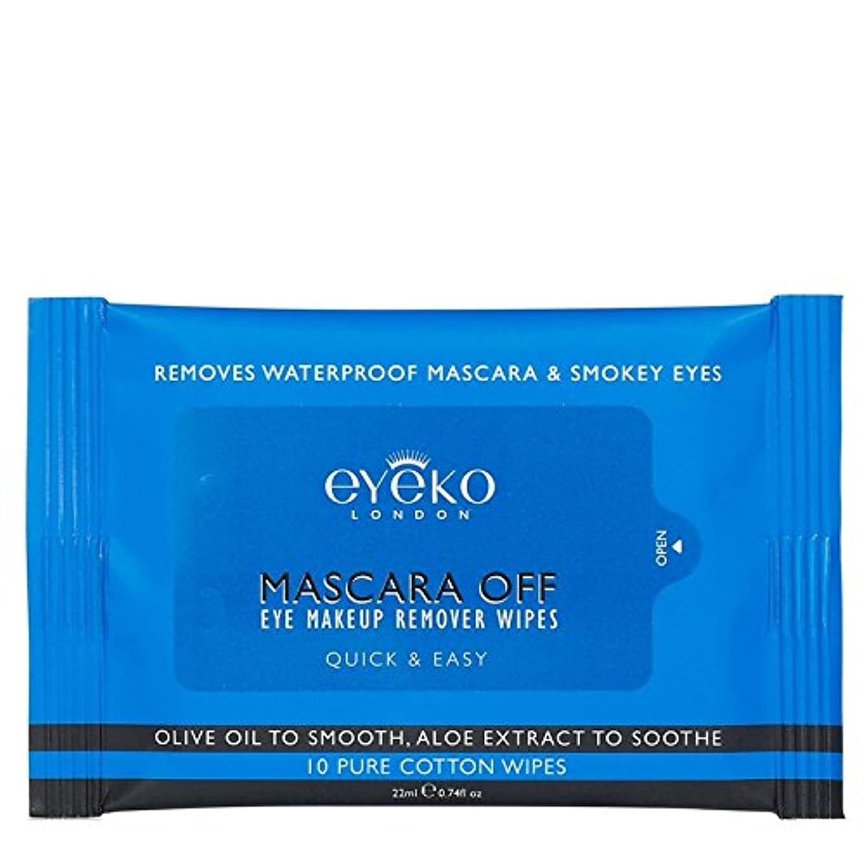 バンク青写真かすかなEyeko Mascara off Wipes 10 per pack (Pack of 6) - マスカラオフパックあたり10ワイプ x6 [並行輸入品]
