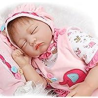 SanyDoll Rebornベビー人形ソフトSilicone 22インチ55 cm磁気Lovely LifelikeキュートかわいいベビーピンクLovely Garden Girl人形