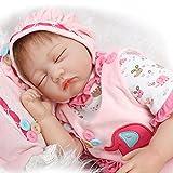 Real Life Love Dolls Best Deals - NPK collection Rebornベビー人形リアルな赤ちゃん人形ビニールシリコン赤ちゃん22インチ55cm新生児Realベビー人形Life Like RebornおしゃぶりLovelyピンクLove Sleeping人形