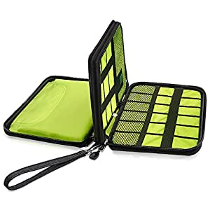 EAYHM トラベルポーチ 旅行 充電器 ケース 小物入れ 収納ポーチ メンズ 生活防水 旅行便利グッズ ブラック