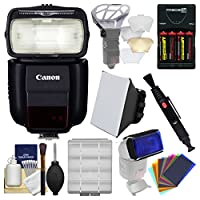 Canonスピードライト430ex iii-rt Flash withソフトボックス+ディフューザーBouncer +カラーGels +電池&充電器+キット