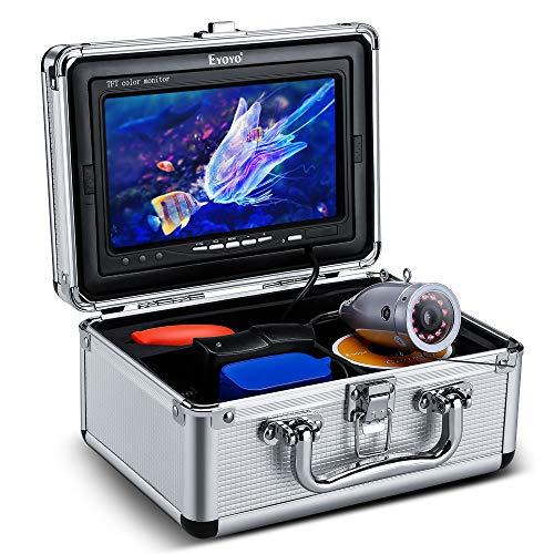 Eyoyo 30M 7インチ 高視認性 IPSモニター 水中 魚群探知機 フィッシュファインダー 赤外線LED搭載 1000TVLカメラ ナイトビジョン