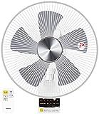山善(YAMAZEN) DCモーター搭載 30cm壁掛扇風機 (静音モード搭載)(リモコン)(風量5段階) 入切タイマー付 ホワイト YWX-BGD30(W)
