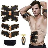 Muscle Toner,SUNWELL Abdominal Toning Belt, Abs Trainer Wireless Body Gym Workout Home Office Fitness Equipment for Abdomen/Arm/Leg Training Men&Women