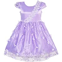 Sunny Fashion Flower Girls Dress Butterfly Party Wedding Bridesmaid Dress Size 4-10 Years