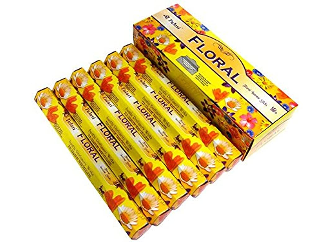 居間たっぷり供給TULASI(トゥラシ) フローラル香 スティック FLORAL 6箱セット