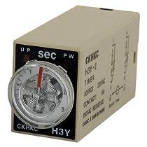 AC 220V 8PターミナルDPDT 3秒3S遅延タイマー時間リレーH3Y-2