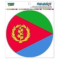 エリトリア国立国旗 - サークル MAG-格好いい'S(TM)カー/冷蔵庫マグネット